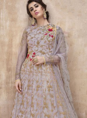 Net Floor Length Anarkali Suit
