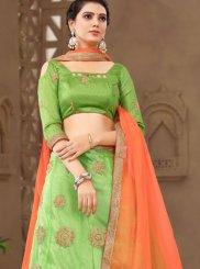 Net Green Designer Lehenga Choli