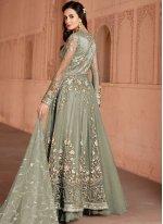 Net Green Embroidered Anarkali Salwar Suit