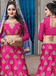 Net Hot Pink Lehenga Choli
