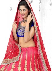 Net Lehenga Choli in Pink