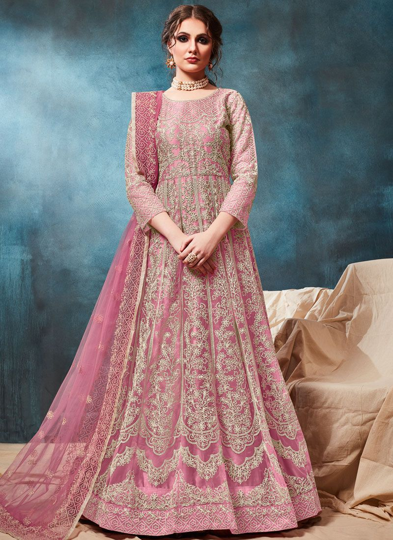 Net Party Anarkali Salwar Kameez