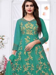 Net Party Ankle Length Anarkali Suit
