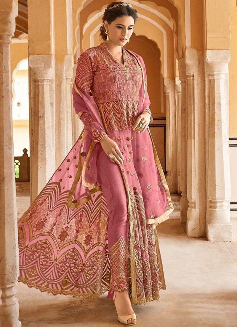 Net Pink Pant Style Suit