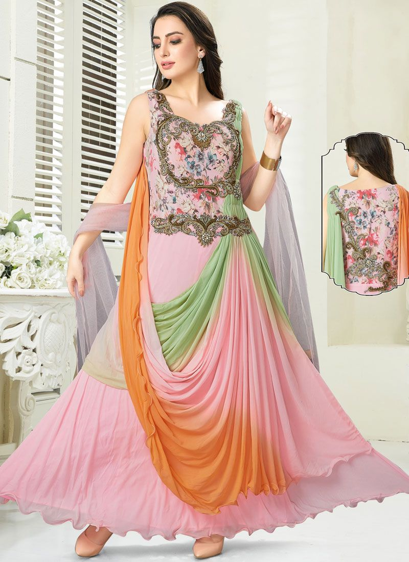 Net Readymade Gown