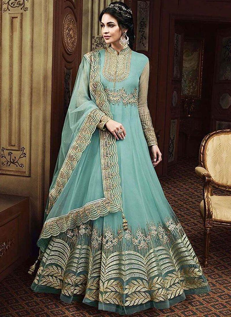 Net Reception Floor Length Anarkali Suit