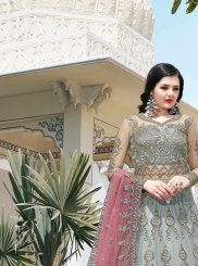 Net Reception Floor Length Anarkali Suit
