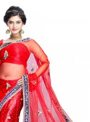 Net Red Lehenga Choli