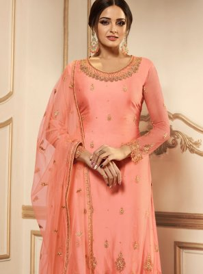 Net Resham Churidar Designer Suit