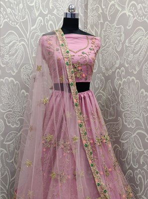 Net Resham Pink Lehenga Choli