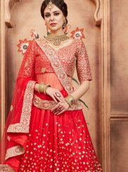 Net Resham Red Lehenga Choli