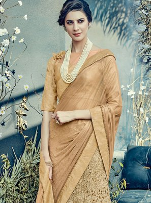Net Resham Work Lehenga Saree