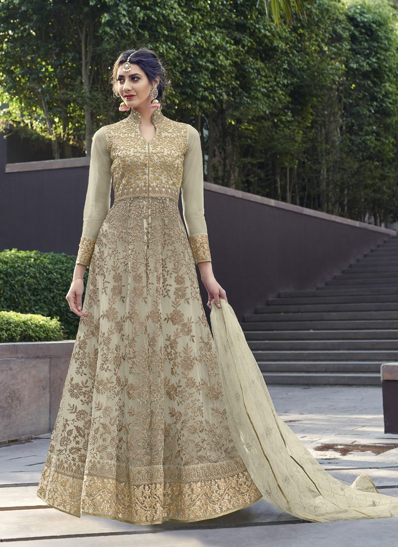 Net Sangeet Anarkali Salwar Suit