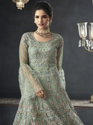 Net Sea Green Floor Length Anarkali Suit