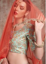 Net Sequins Trendy Lehenga Choli