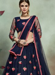 Net Sequins Trendy Lehenga Choli