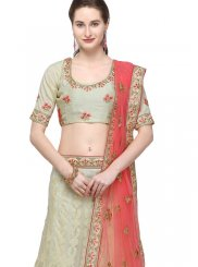 Net Stone Work Grey Designer Lehenga Choli
