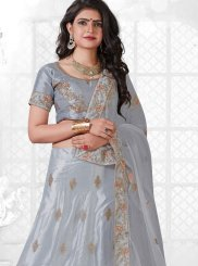 Net Trendy Lehenga Choli in Grey