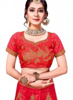 Net Trendy Lehenga Choli in Pink