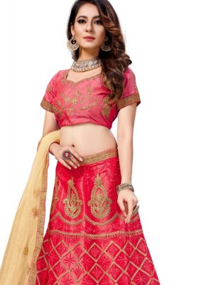 Net Trendy Lehenga Choli in Pink
