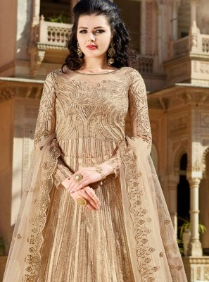 Net Wedding Long Choli Lehenga