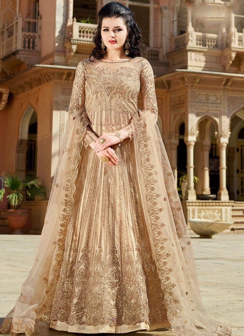 Net Wedding Long Choli Lehenga