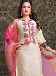 Off White Ceremonial Churidar Salwar Suit