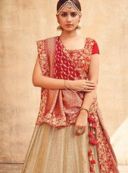 Off White Color Designer Lehenga Choli