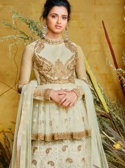 Off White Color Floor Length Anarkali Suit
