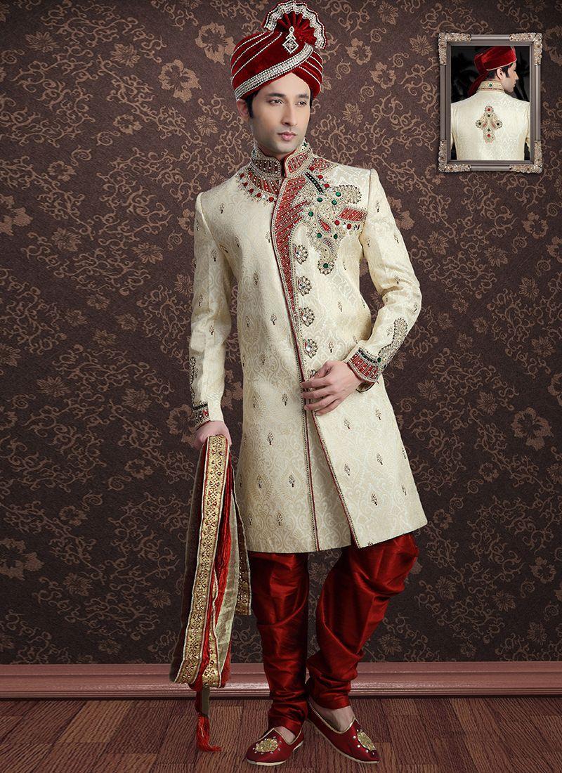 Off White Color Sherwani