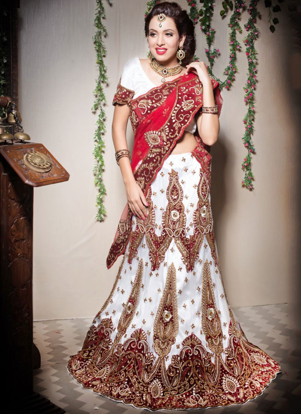 Off White Designer Lehenga Choli