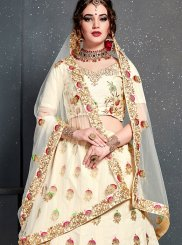 Off White Designer Lehenga Choli