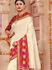 Off White Festival Patola Silk  Classic Saree
