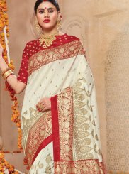 Off White Festival Traditional Saree