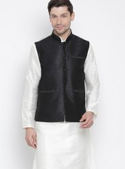 Off White Reception Kurta Payjama With Jacket