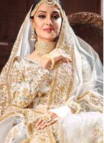Off White Sangeet Designer Lehenga Choli