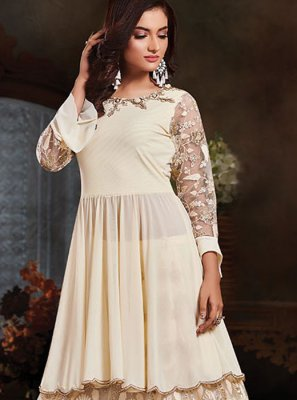 Off White Thread Designer Salwar Kameez
