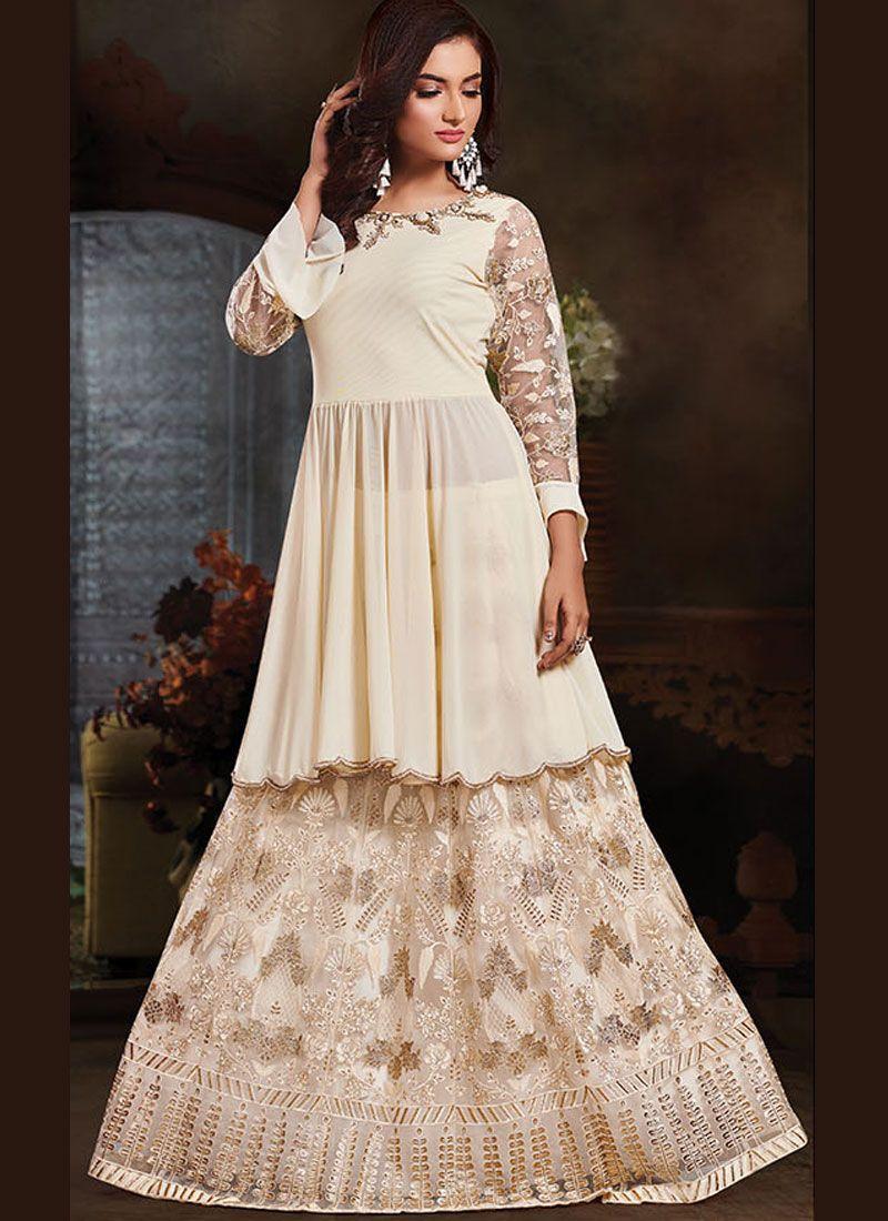 Off White Thread Designer Salwar Kameez