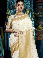 Off White Weaving Designer Saree