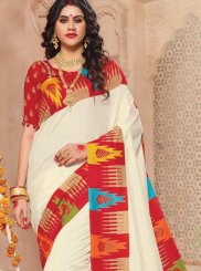 Off White Weaving Festival Classic Saree