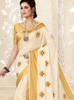Off White Weaving Uppada Silk Classic Saree