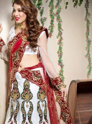 Off White Wedding Designer Lehenga Choli