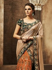 Orange A Line Lehenga Choli
