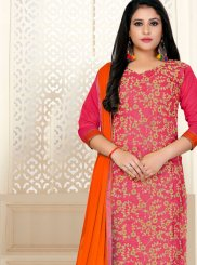 Orange and Pink Festival Designer Straight Suit