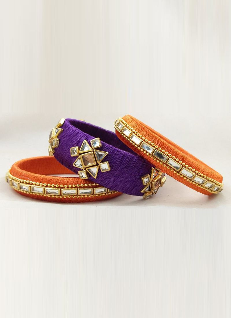 Orange and Purple Bangles