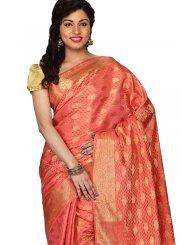 Orange Art Silk Weaving Designer Traditional Saree
