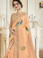 Orange Casual Classic Designer Saree