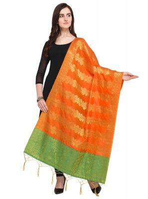 Orange Ceremonial Designer Dupatta