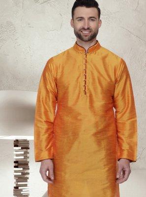 Orange Ceremonial Kurta Pyjama