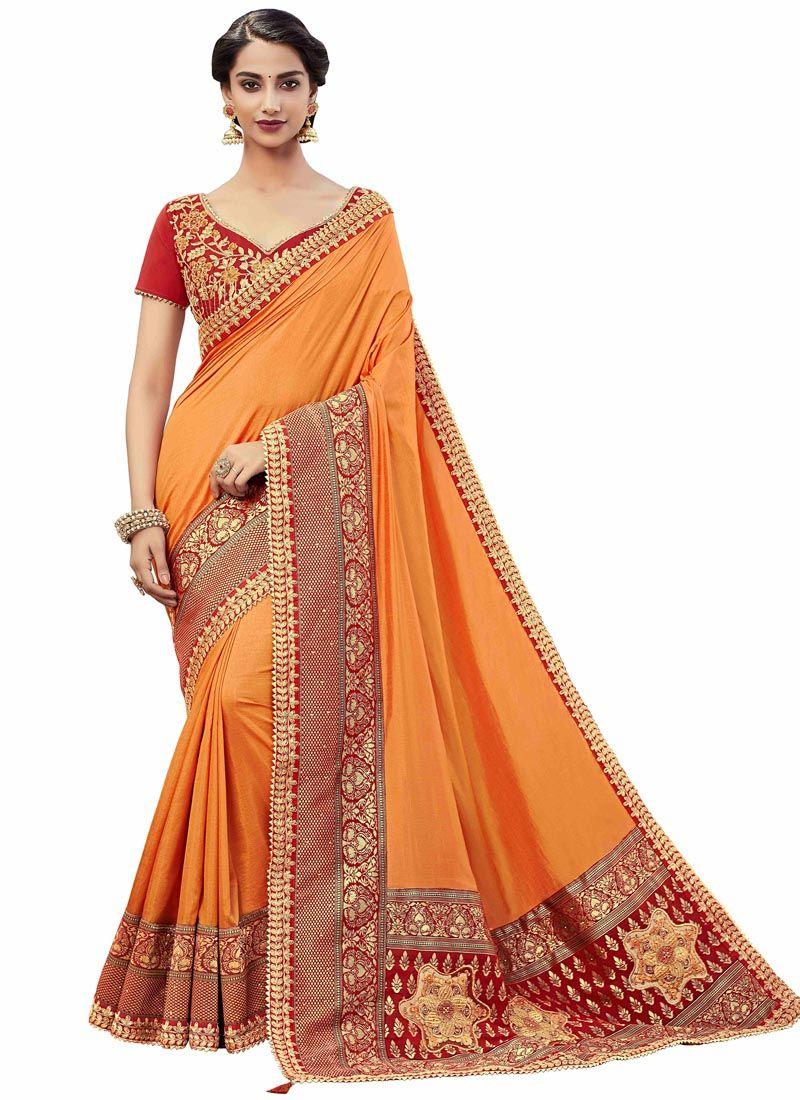 Orange Classic Saree